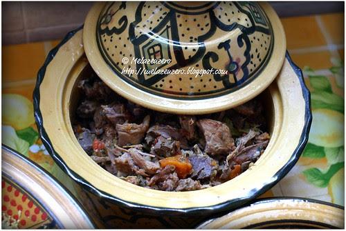 la carne della zuppa per il cous-cous