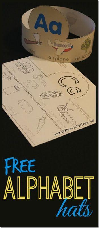 FREE! Alphabet Hats for Toddler Preschool Kindergarten - These are ...