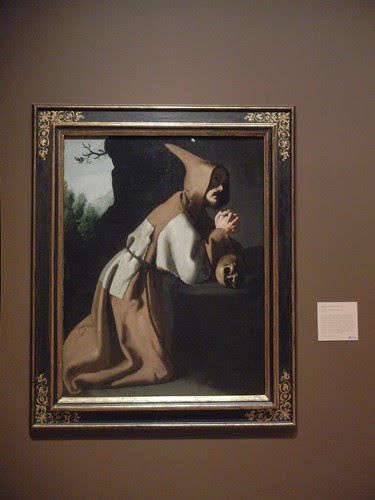 DSCN7669 _ Saint Francis in Prayer, c. 1638-1639, Francisco de Zurbarán (1598-1664) Norton Simon Museum, July 2013