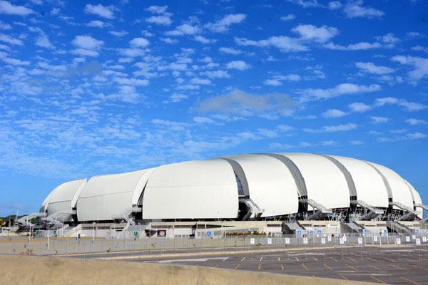 Arena das Dunas foi construída para a Copa do Mundo e inaugurada em janeiro de 2014