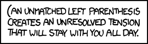 """Brains aside, I wonder how many poorly-written xkcd.com-parsing scripts will break on this title (or \\;;""""\''{\<<[' this mouseover text."""""""