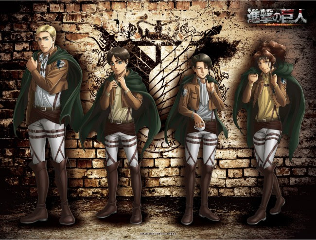 Wallpaper Levi Ackerman Erwin Smith Eren Jaeger Hange Zoe Attack On Titan Shingeki No Kyojin Wallpapermaiden