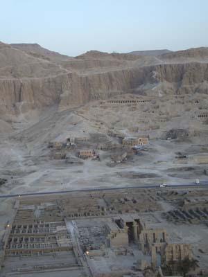 Ramsesseum dall'aria