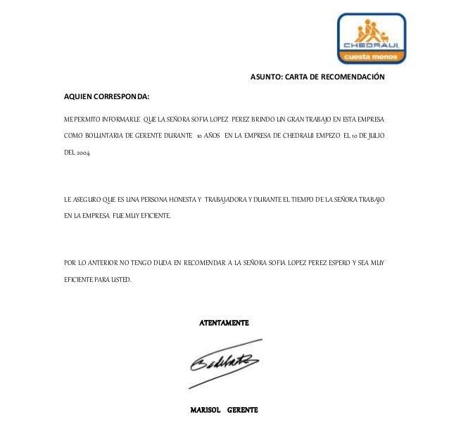 Carta De Recomendacion Hoja Membretada V Carta De