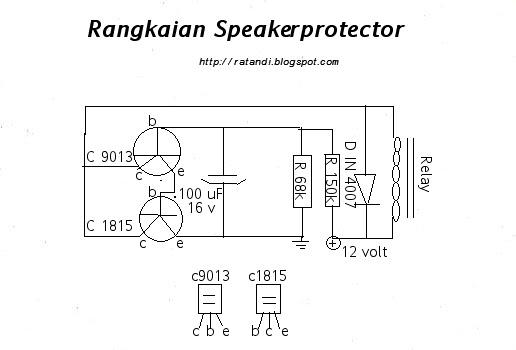skema elektronika  speaker protector