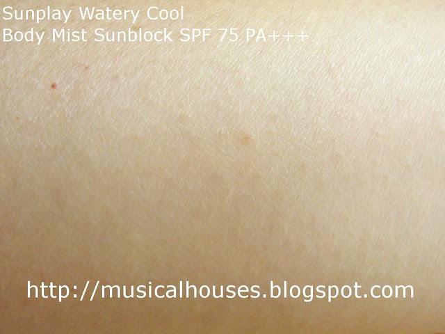 sunplay watery cool body mist sunblock dry