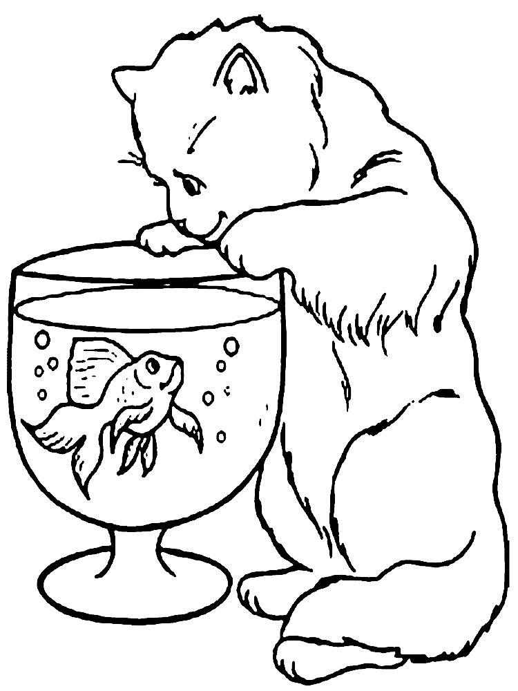 Imprimir Gratis Dibujos Para Colorear Gato
