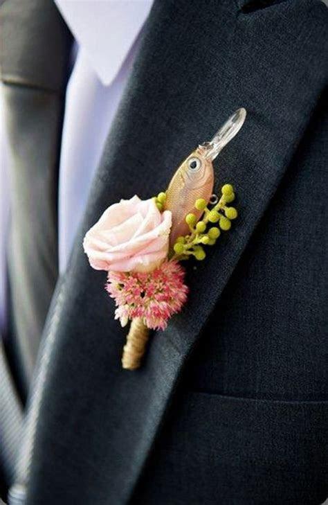 30 Brilliant Unique Wedding Boutonnieres, Buttonholes