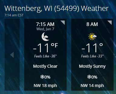 Hourly-Weather-Forecast-Wittenberg-WI-54499