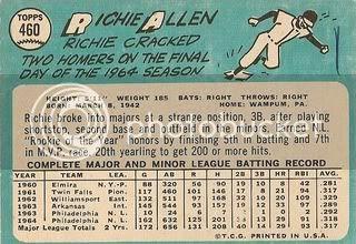#460 Richie Allen (back)