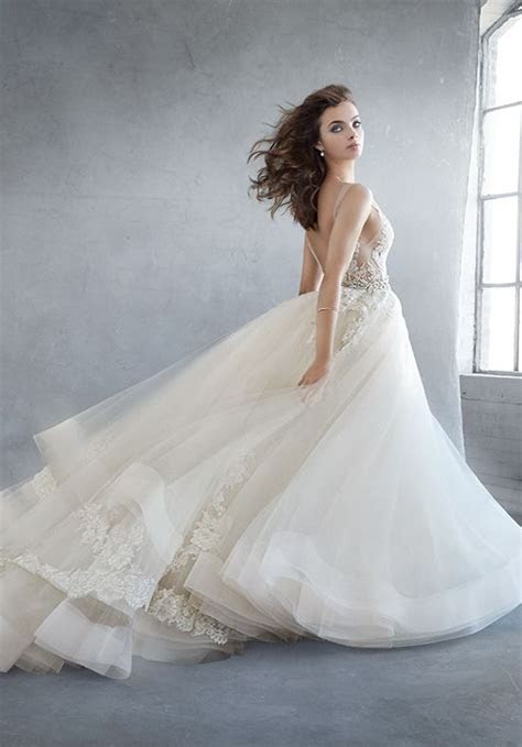 Lazaro 3607 Wedding Dress   The Knot