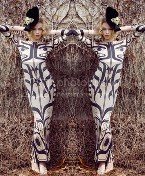 totem,black & white,maxi,tribal
