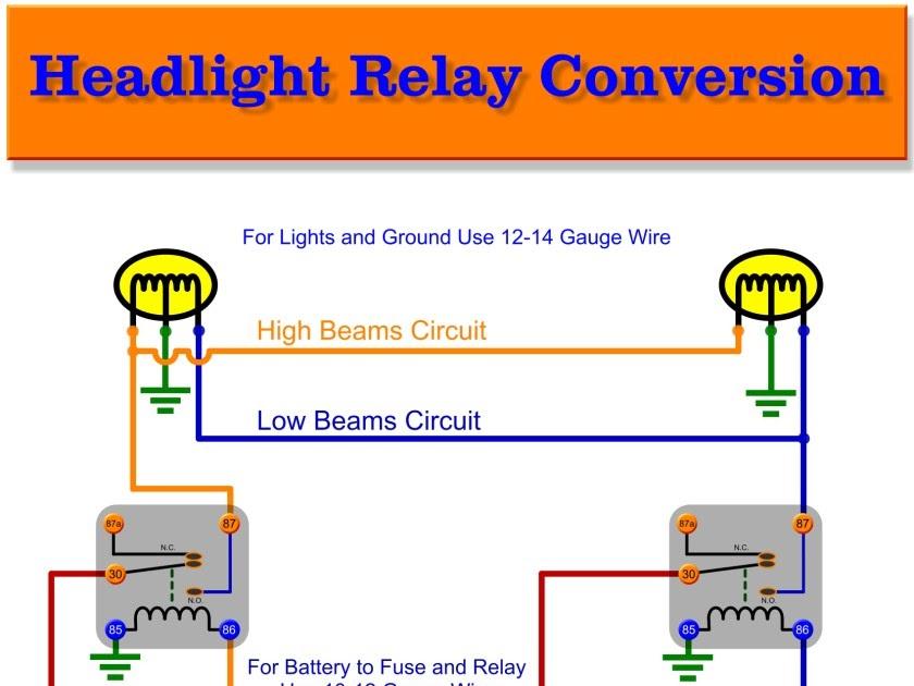Wiring Diagram Of Headlight