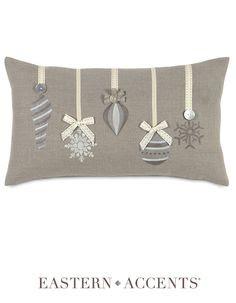 Glistening Ornaments Decorative Pillow