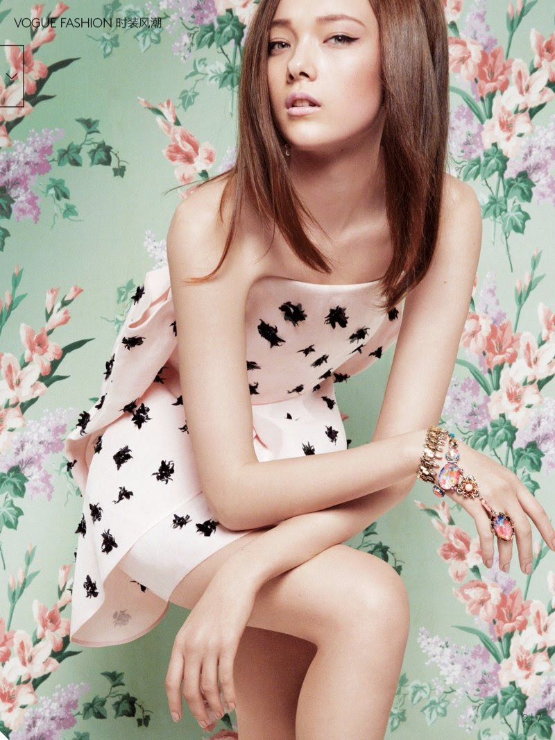 Yumi Lambert by Greg Kadel for Vogue China March 2014