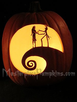 Nightmare Before Christmas Hill Pumpkin Carving