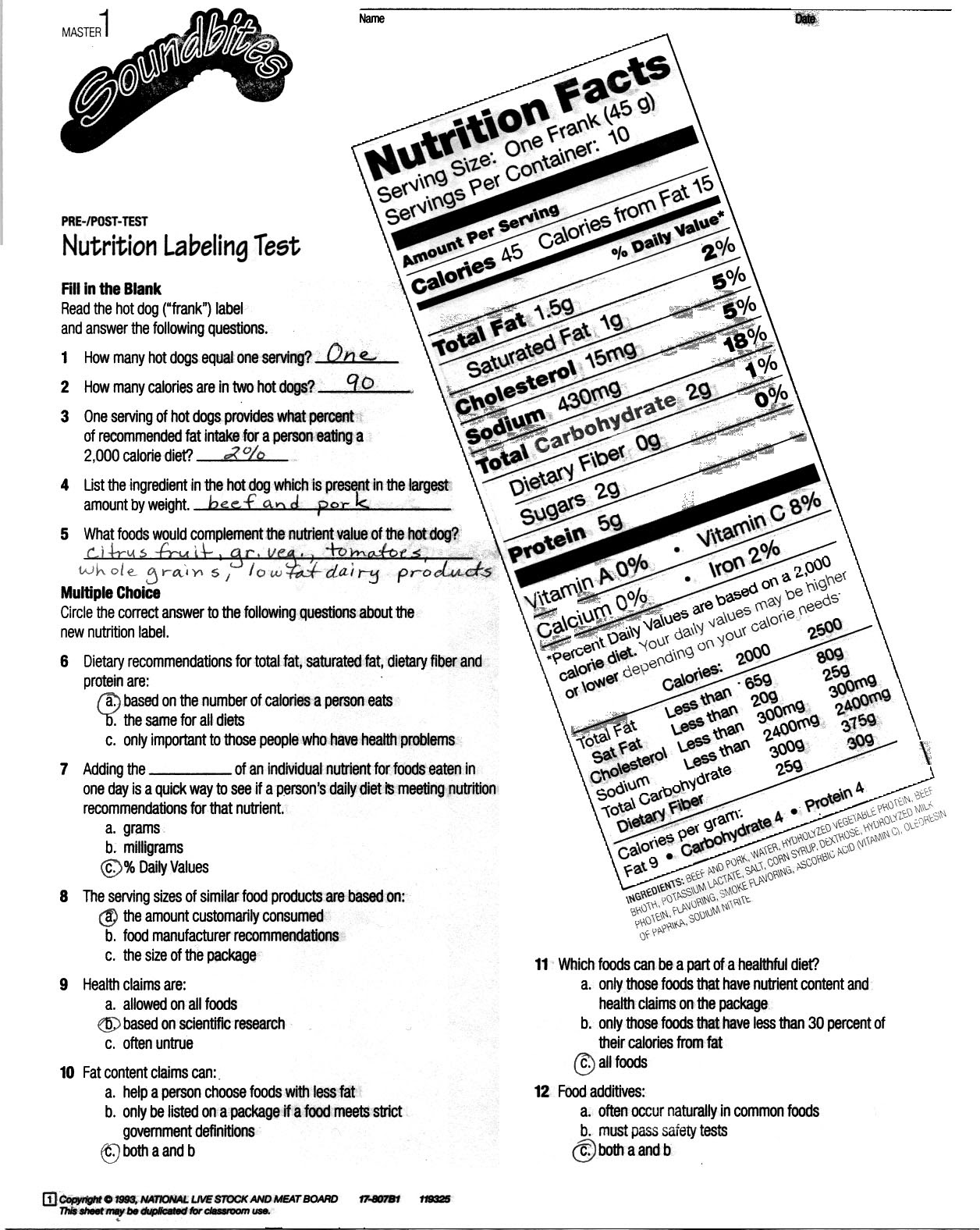 worksheet. Nutrition Worksheet. Worksheet Fun Worksheet Study Site