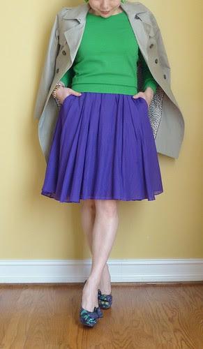 purple + green