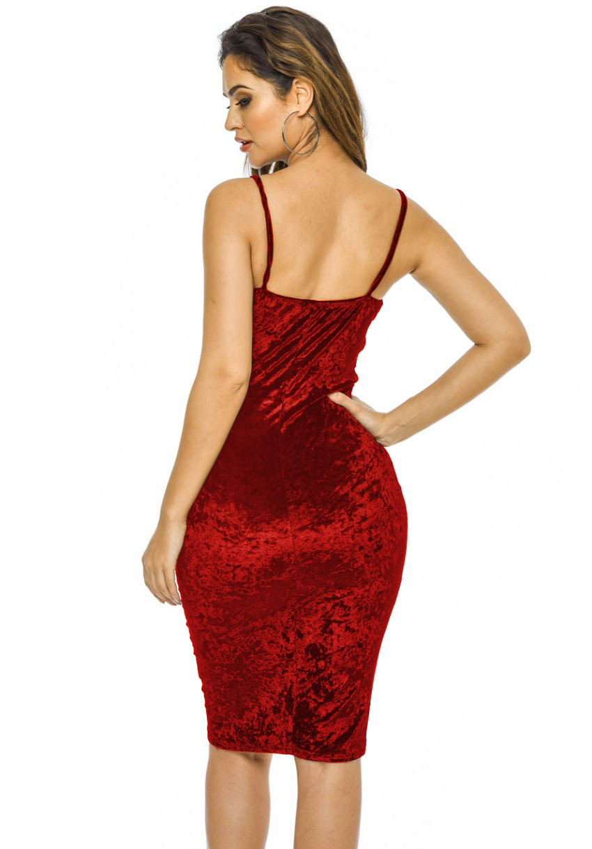H&m red bodycon dress