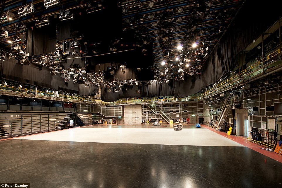 Studio TC1: BBC Television Centre in White City, west London, which has a floor area and lighting rig with the capacity for opera, orchestras and Strictly Come Dancing