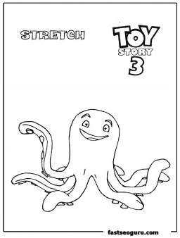 Stretch toy story 3 coloring page print out - Printable ...
