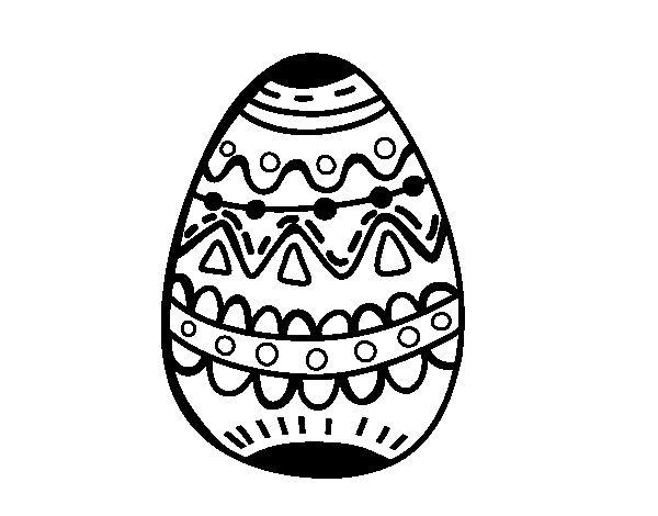 Dibujo De Huevo De Pascua Con Rombos Para Colorear Auto Electrical