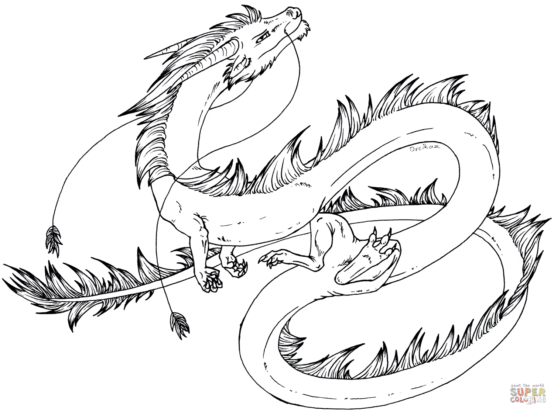 Dibujos De Dragon Para Colorear Paginas Para Imprimir Y Colorear