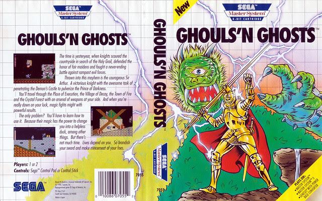 Sega Master System  - Ghouls N Ghosts