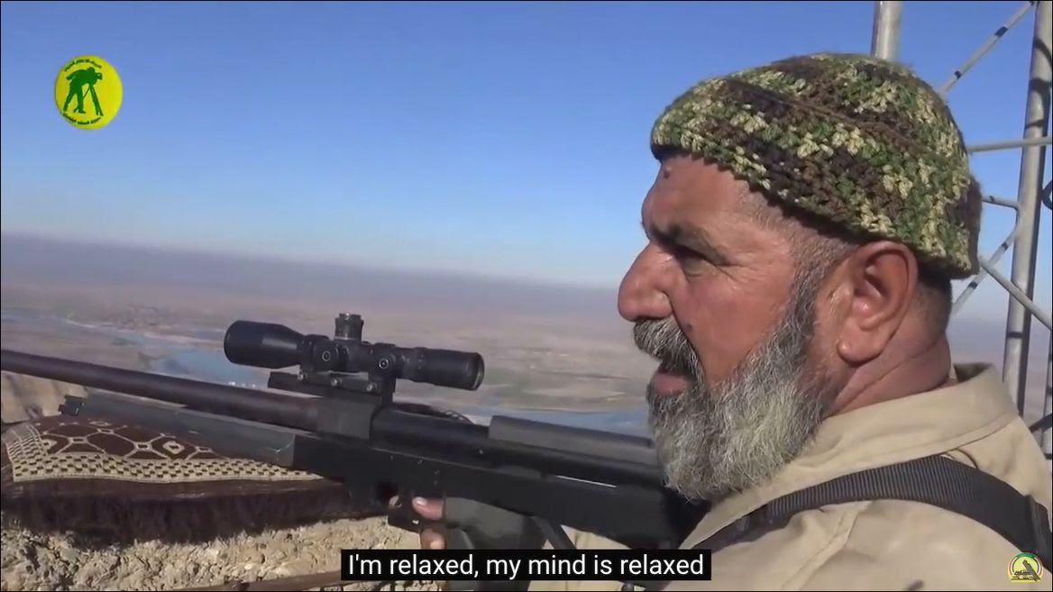 Video thumbnail, Meet the elderly Iraqi sniper who has killed 173 ISIS fighters