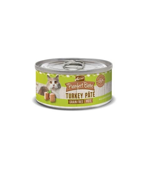 merrick purrfect bistro grain  turkey pate canned cat food
