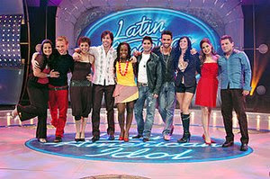 Latin American Idol contestants during the sho...