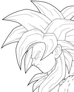 Goku Ssj4 Coloring Pages At Getdrawingscom Free For Personal Use