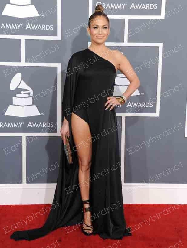 Celebrity black evening dresses
