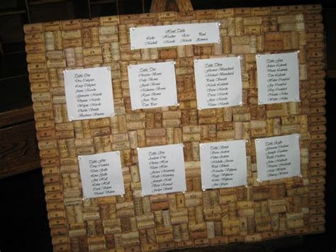 DIY Seating Chart & Cork Board   Weddingbee Photo Gallery