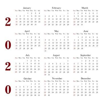 Free Download Kalender 2020 Lengkap