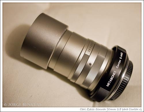 Carl Zeiss Sonnar 90mm 2.8 para Contax G