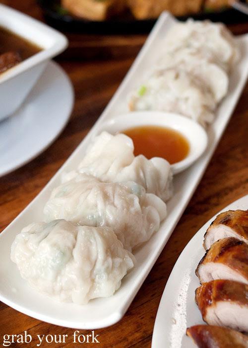 prawn dumplings at taipei chef, artarmon
