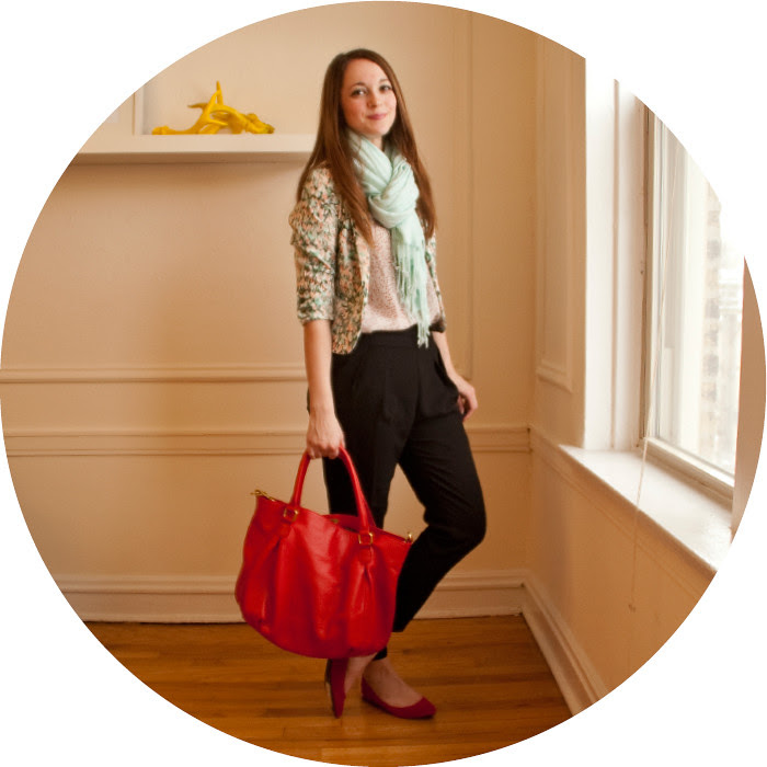 february outfit, pattern mix, floral blazer, mint and red, black dress pants, what to wear with, creative young professional, spots!, red print tank, club monaco, zara pleated pants, red suede flats