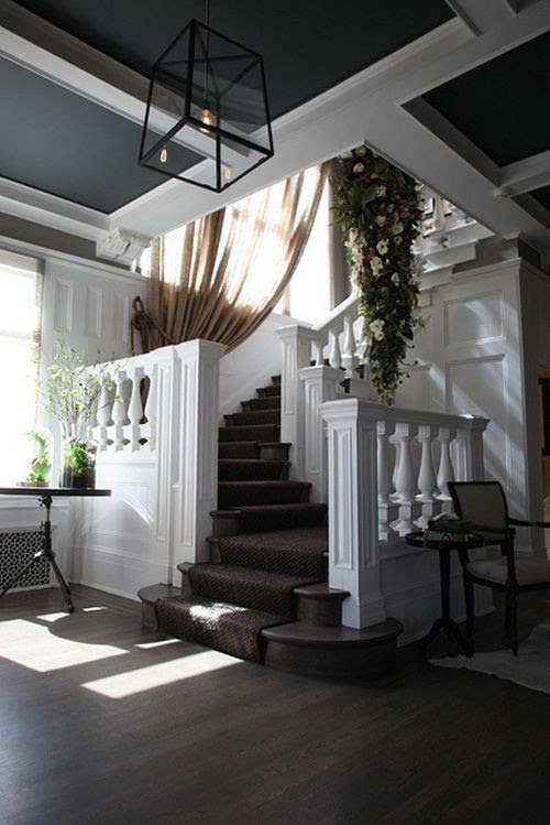Love the staircase and the colors
