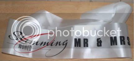 Mr & Mrs Slimming World 2009 sash