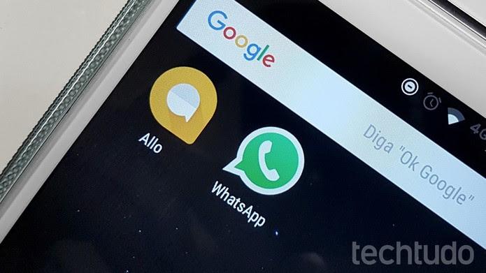 [marca] Google Allo e WhatsApp (Foto: Thássius Veloso/TechTudo)