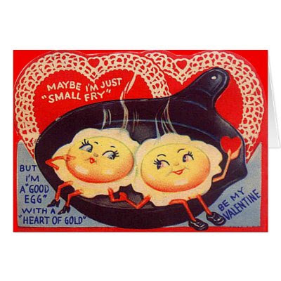 I'm a Good Egg - Vintage Funny Valentine's Day Card