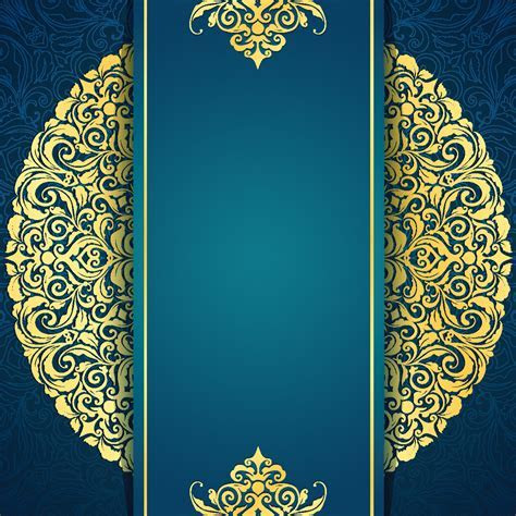 Continental Gold Invitation Background Material Vertical