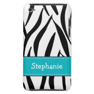 Aqua Zebra Print iPod Touch 4th Gen Case-Mate Cove casemate_case