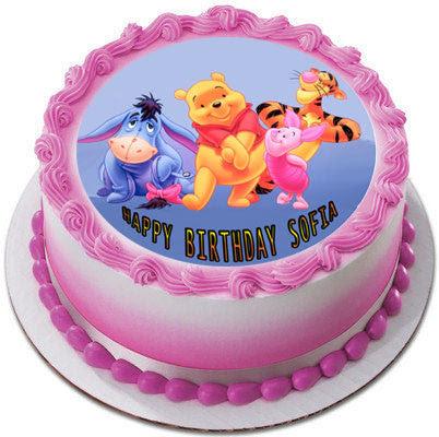 Winnie Pooh 2 Edible Birthday Cake Or Cupcake Topper Edible Prints