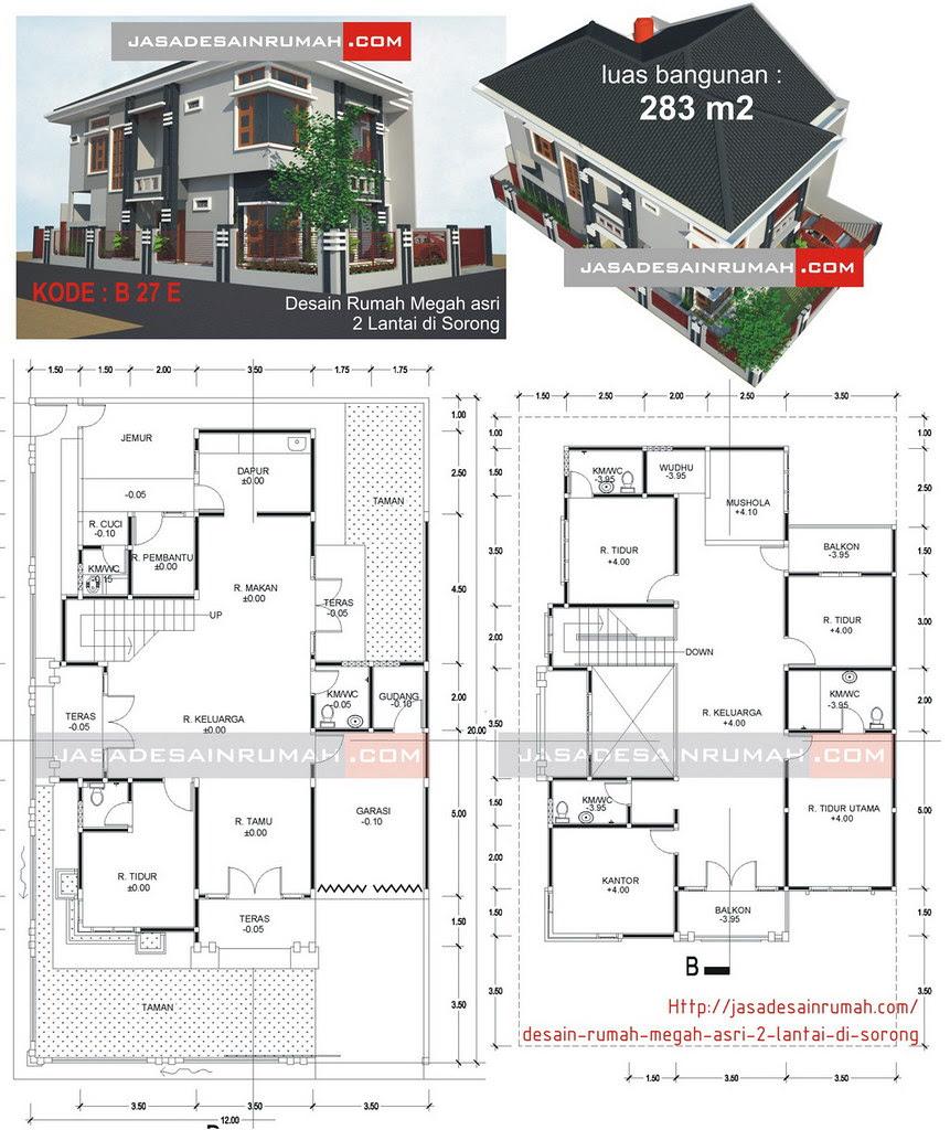 Desain Rumah Megah Asri 2 Lantai Di Sorong Jasa Desain Rumah