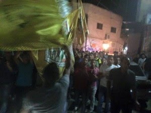 Members of the Fatah organization celebrated the terror attack. Photo: Twitter.