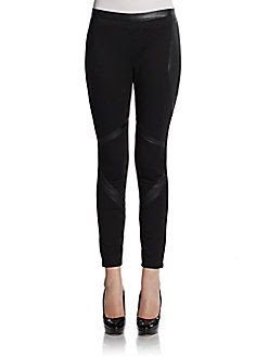 W118 by Walter Baker Faux Leather Trimmed Leggings