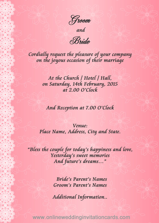 Wedding Card Assamese Marriage Invitation Letter Wedding Card