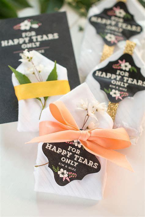 Personalized handkerchiefs   Easy DIY Wedding Favors